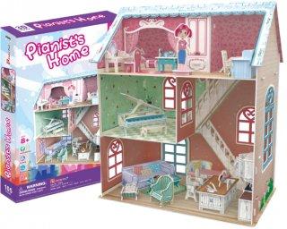 3Dパズル ドールハウス-ピアニストホーム