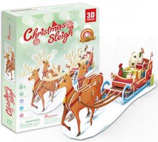 3D パズル クリスマス Christmas Sleigh(そり)