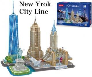 3Dパズル ニューヨーク シティライン
