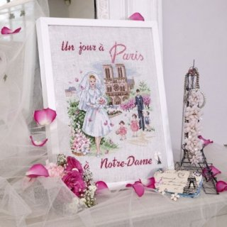Un jour a Paris a Notre Dame(ある日のパリのノートルダム) クロスステッチキット