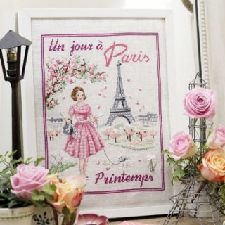 Un jour a Paris au printemps(ある日のパリの春) クロスステッチキット