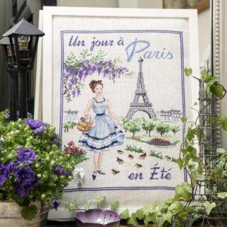 Un jour a Paris en ete(パリの夏のある日) クロスステッチキット