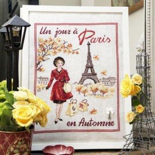 Un jour a Paris en automne(パリの秋のある日) クロスステッチキット