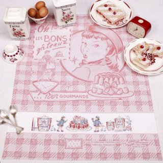 キッチンクロス Les bonsgateaux(美味しいケーキ) クロスステッチキット