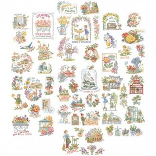 La grande histoire des jardins(素晴らしいガーデンストーリー50チャート) 図案