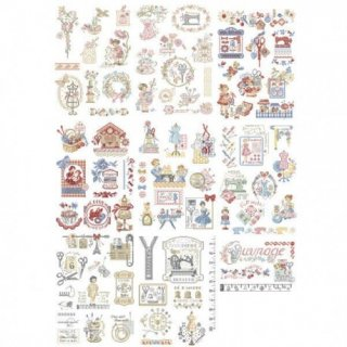 La grande histoire de l'ouvrage(特別な刺繍ストーリー80のモチーフ) 図案