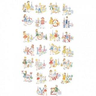 Le grand ABC -Les petites Parisiennes(レ・プティット・パリジェンヌ26のアルファベット) 図案