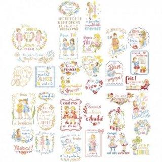 La grande histoire des messages brodes(メッセージ刺繍 33のモチーフ) 図案