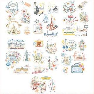 La grande histoire-Paris est un poeme (パリはポエム 36のモチーフ) 図案