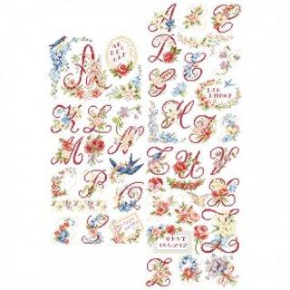Le grand ABC-Chromo (アルファベット レトロ 26のモチーフ) 図案