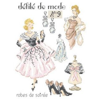 Defile de mode N°9-Robes de soiree (イブニングドレス)図案