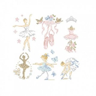 再入荷:Ballerina-Little story in 6 charts (バレリーナ)図案