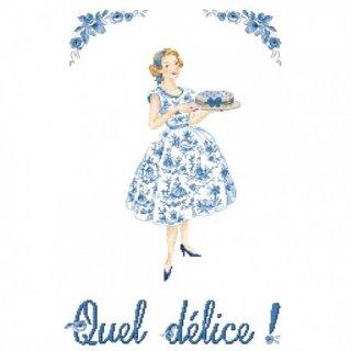 Grille Quel delice (なんて大喜び) 図案