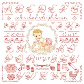 Petit ABC-Bebe-rose (リトルベイビーピンクABC)図案