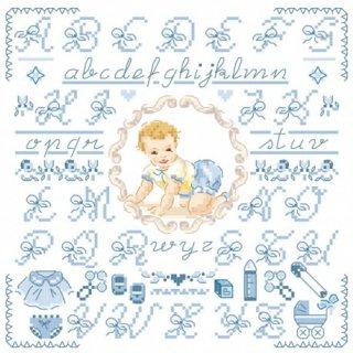 Petit ABC-Bebe-bleu (リトルベイビーブルーABC)図案