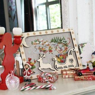 壁飾り Des cadeaux par milliers(クリスマス何千もの贈り物)  クロスステッチキット