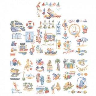 海岸に関する素晴らしいストーリー  (50のモチーフ) 図案