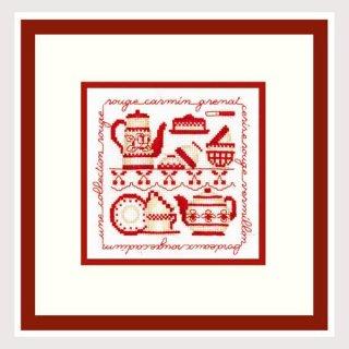 ル・ボヌール・デダム クロスステッチキット Collection Rouge 赤 アイーダ