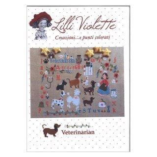 Lilli Violet リリーバイオレット Veterinarian 獣医 クロスステッチ図案