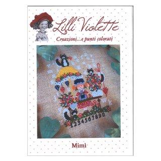 Lilli Violet リリーバイオレットMimi 少女ミミ クロスステッチ図案