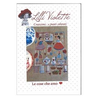 Lilli Violet リリーバイオレット le cose che amo 私の宝もの クロスステッチ図案