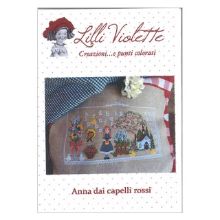 Lilli Violet リリーバイオレット anna dai capelli rossi 赤毛のアン クロスステッチ図案