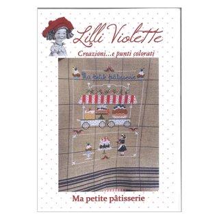 Lilli Violet リリーバイオレット Ma petite patisserie 小さなケーキ屋さん クロスステッチ図案