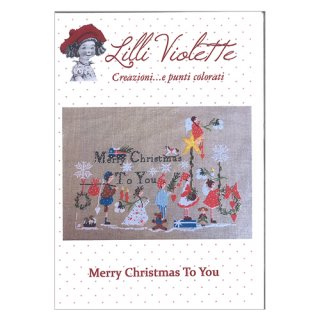 Lilli Violet リリーバイオレット Merry Christmas to you メリークリスマス クロスステッチ図案
