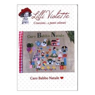 Lilli Violet リリーバイオレットCaro Babbo Natale 親愛なるサンタクロース クロスステッチ図案