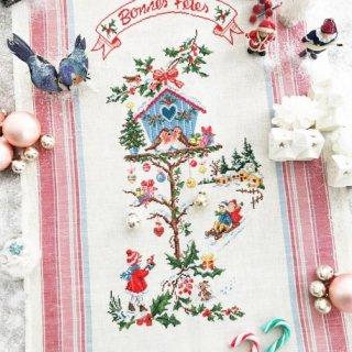トルション Little Christmas house(小さなクリスマスのお家)【リネン】