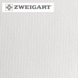 【ドイツ】ツバイガルト(ZWEIGART)クロスステッチ用生地 アイーダ14カウント ホワイト(48x53cm)