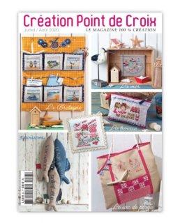 CREATION POINT DE CROIX 2020年7/8月号 クロスステッチ洋書