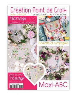 CREATION POINT DE CROIX 2014年1/2月号 クロスステッチ洋書
