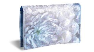 せと刺しゅう カードケース Gradation Dahlia blue ダリア ブルー 名刺入れ