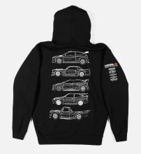ZIP HOODIE GYMKHANA TEN VEHICLES BLACK