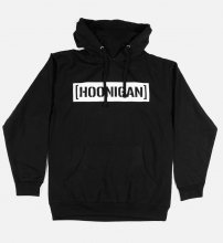 NO ZIP HOODIE CENSOR BAR BLACK/WHITE