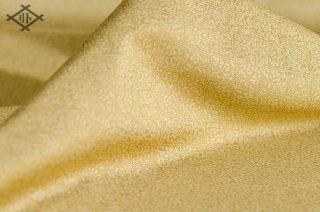 二丁源氏緞子・正絹・薄金茶・襷小花紋(20センチ〜・価格は10センチあたり)