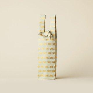ワインバッグ  金襴 / 薄青磁 横縞小花