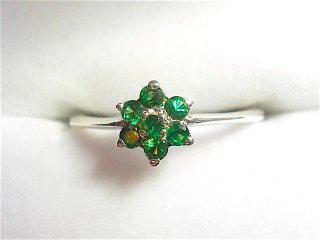 FLOWER Tsavorite Garnet Ring