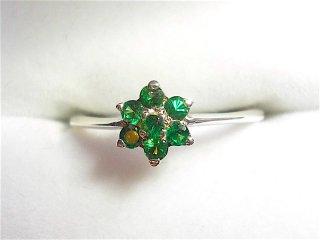 FLOWER Tsavorite Garnet Ring