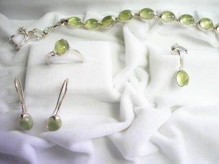 SPACECANDY SET Prehinite Jewelry Set