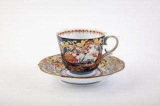 琳派 古伊万里様式【コーヒー碗皿】
