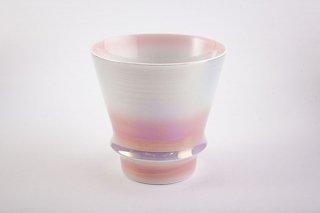 匠の蔵 至高の焼酎グラス 【賞美堂オリジナル柄 オーロラ ピンク】