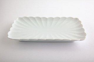 白磁 菊割【焼物皿】