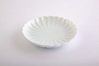 白磁 菊割【小皿】