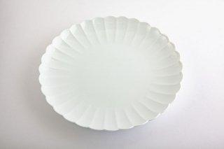 白磁 菊割【盛皿】