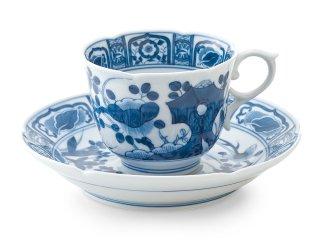 染付 芙蓉手【コーヒー碗皿】