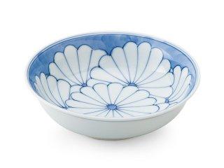 染付七重菊【平小鉢】