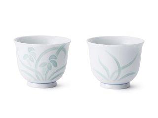 青白磁花彫【煎茶】