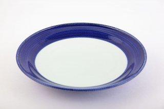 藍濃とび鉋 ミート皿